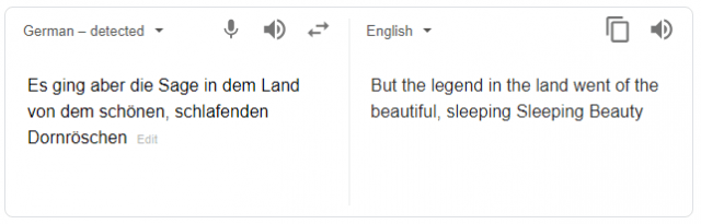 Translation software doesn't get it quite right